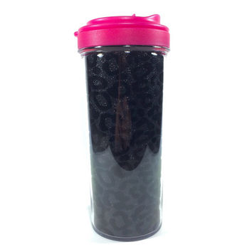 15oz Glitter Cheetah Travel Mug