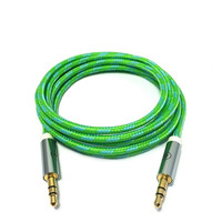 Charge Cords - So Fresh, So Green AUX Cable - Green
