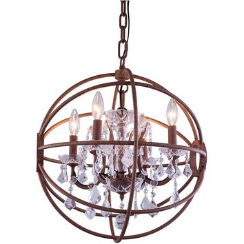 "Geneva 20"" Diam Chandelier, Rustic Intent, Clear Crystal, Royal Cut"