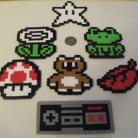 Super Mario Bros 3 Perler Bead Magnet Set 7 Pieces by LighterCases