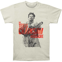 Texas Chainsaw Massacre Men's  Leatherface Slim Fit T-shirt Vintage