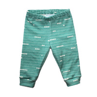Turquoise Lined Baby Leggings