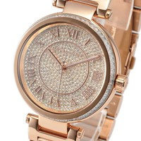 New Michael Kors MK5868 Ladies Watch Camille Crystal Pave Dial Rose Gold MK5868