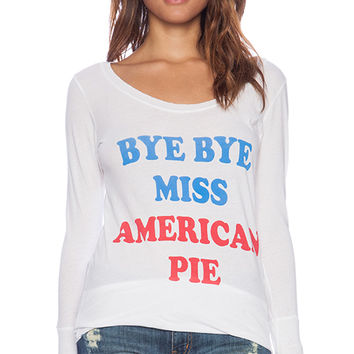 Rebel Yell Bye Bye Miss American Pie Skinny Tee in White