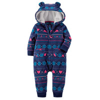 Fair Isle Hooded Fleece Jumpsuit