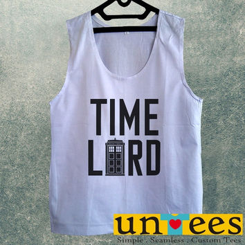 Men's Basic Tank Top - Doctor Who Tardis Doctor Who Time Lord Design