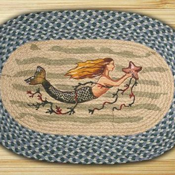 Mermaid Oval Patch Rug