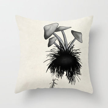 Mushrooms Throw Pillow by Nicklas Gustafsson