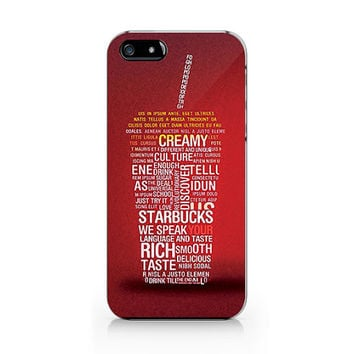 Q-052 Starbucks text Iphone4/4s, iphone5/5s/5c, ip6, samsung s3/s4/s5/note3 case