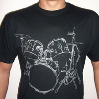 Drums T shirt cool Musician Tshirt screenprinted by MyPersonaliTs