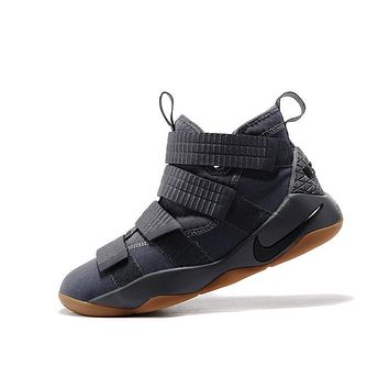 Nike LeBron Soldier 11 Gray Men Basketball Sneakers Sports Shoes