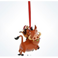 Disney Parks Timon & Pumbaa Holiday 3D Christmas Ornament New With Tags