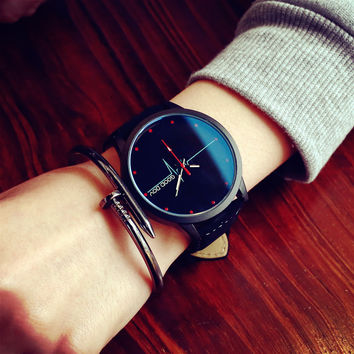 Designer's Great Deal Gift Awesome Good Price Trendy Stylish New Arrival Korean Vintage Casual Simple Design Mirror Couple Watch [6045926529]