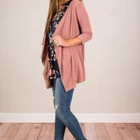 Going The Distance Cardigan, Mauve