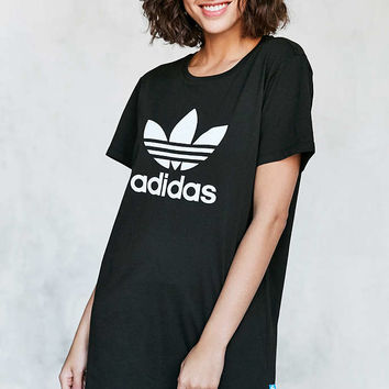 adidas Originals Trefoil Oversized T-Shirt Mini Dress - Urban Outfitters