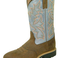 Rusty Spur Couture Twisted X Men's Cowboy Work Pull On U Toe Boot - MCW0002, ,