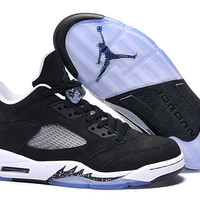 Men's Nike Air Jordan 5 Retro Black White