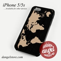 Black Wood Worlds Map Phone case for iPhone 4/4s/5/5c/5s/6/6s/6 plus
