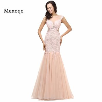 Real Images Sexy Lace Long Elegant Mermaid Prom Dresses
