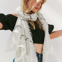 Striped Woven Scarf | Urban Outfitters