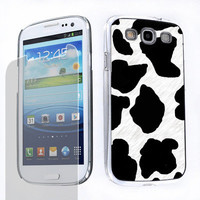 Hard Case + SCREEN PROTECTOR for Samsung Galaxy S3 S-III Cow Skin Pattern