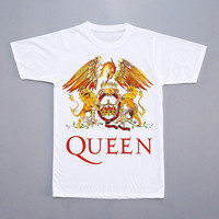 Queen T-Shirt Freddie Mercury Tee Shirt Queen Freddie Mercury Color Shirt Short Sleeves Shirt Women T-Shirt Unisex T-Shirt Size S,M,L,XL