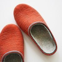 """Shot 80's / Felted slippers in women""""s size US 10 or men's size 9"""