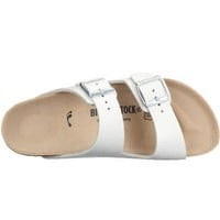 Birkenstock womens Arizona in White from Leather Sandals 42.0 EU W