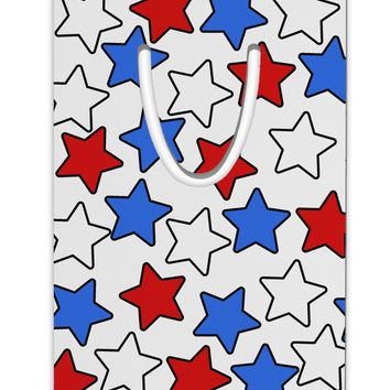 Red White And Blue Stars Aluminum Paper Clip Bookmark by TooLoud