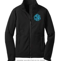 Monogrammed Ladies Traverse Soft Shell Jacket | Outerwear | Marley Lilly