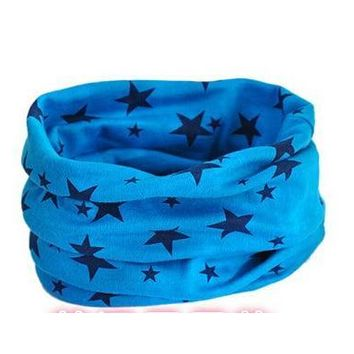 Free shipping Children outdoor scarves multifunctional warm magic bandanas ring sky blue star 1