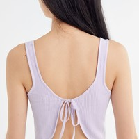 UO Alli Tie-Back Cropped Tank Top | Urban Outfitters