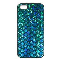 Unique Design Mermaid Scales Best Protective Durable Hard Back Cover Case for iPhone 5 5s (TPU)