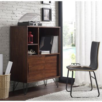 Retro Clifford Media Bookshelf Console | Overstock.com Shopping - The Best Deals on Media/Bookshelves