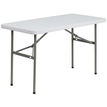 24''W x 48''L Granite Plastic Folding Table