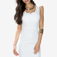 Lois Scallop Hem Dress