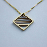 Jaeci Energy Glyph Symbol Long Necklace in Gold