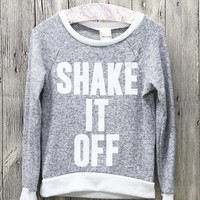 Girls Shake it Off Top, Heather Grey