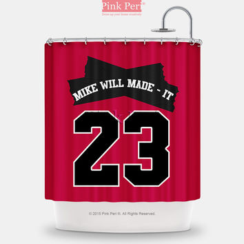Miley Cyrus Mike Will Made it 23 Shower Curtain Home & Living Bathroom 168