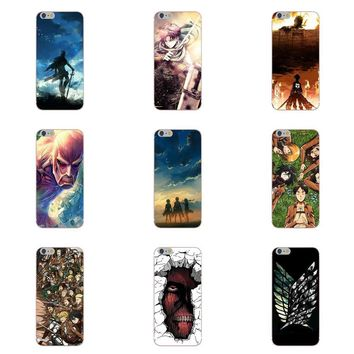 Cool Attack on Titan  Anime For HTC Desire 530 626 628 630 816 820 One A9 M7 M8 M9 M10 E9 Plus U11 For Moto G G2 G3 Soft Phone Cases AT_90_11