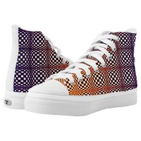 Abstract Squares 10 High-Top Sneakers
