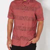 Geo Tribal Short Sleeve Button Down | Plaid & Patterned Shirts | rue21