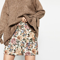 SHORT TAPESTRY SKIRT DETAILS