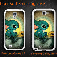 Stitch and Turtlecases for  Samsung Galaxy Note 2 II case, N7100 case,Samsung Galaxy S4 I9500 case, Silicon cases N0013
