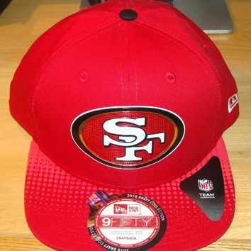 San Francisco 49ers New Era 2015 NFL Draft Snapback 9FIFTY Hat Cap Adjustable