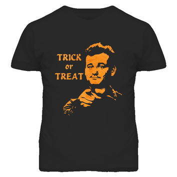 Unisex Bill Murray Stripes Trick or Treat Halloween T-Shirt