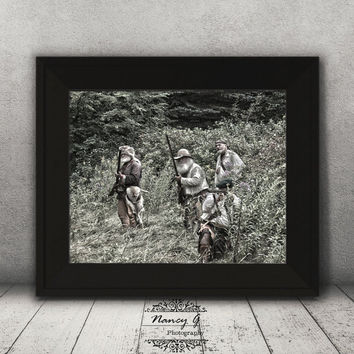 Fur Trapper Print, Vintage Print, Living Room Decor, Historical Image, Reenactment, Wall Art, Gift Ideas, Country Decor, History Print