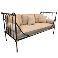 French Iron Neoclassical Daybed