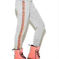 Bright Side Aztec Trim Jogger Pant | Wet Seal