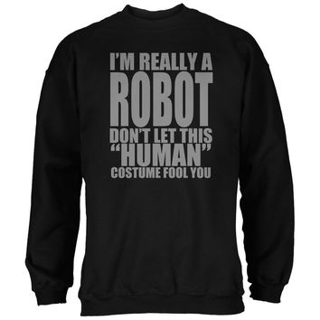 Halloween Human Robot Costume Black Adult Sweatshirt